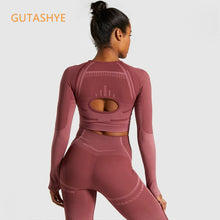 Load image into Gallery viewer, GUTASHYE 2 Piece Set Workout Clothes for Women Sports Bra and Leggings Set Sports Wear for Women Gym Clothing Athletic Yoga Set