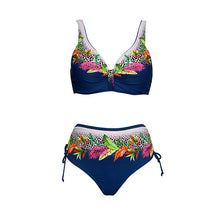 Load image into Gallery viewer, Andzhelika Floral High-Waisted Bikini Sets Sexy Push Up Swimsuit 2021 Summer Two Pieces Swimwear Women Plus Size Bathing Suits