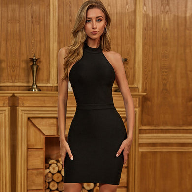ADYCE 2021 New Summer Women Bodycon Bandage Dress Sexy Backless Hollow Out Black Mini Celebrity Runway Club Party Dress Vestidos