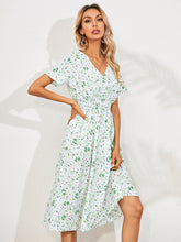 Load image into Gallery viewer, 2021 New V-neck Casual Fresh Foral Summer Casual Party Short Sleeve Prom Beach Elegant Dresses for Women