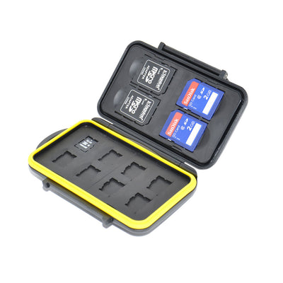 JJC MC-SDMSD12 Memory Card Case fits 4 x SD, 8 x Micro SD cards