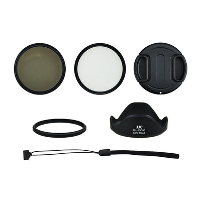 JJC SX-60K 58mm UV CPL Filter, Adapter,Lens Hood Kit for Canon PowerShot SX60 HS