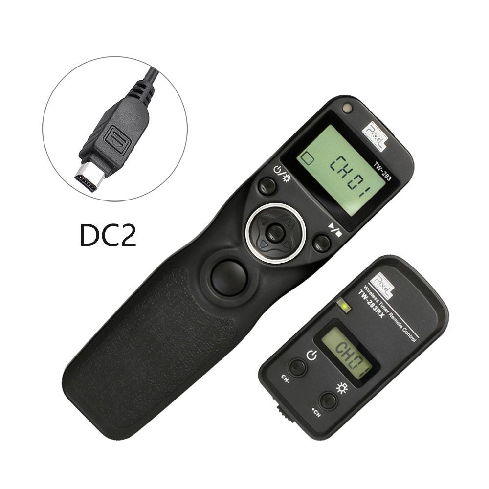 Pixel TW-283/DC2 LCD Wireless Timer Shutter Release Remote Control for Nikon DC2 Type