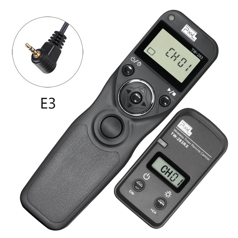 Pixel TW-283/E3 LCD Wireless Timer Shutter Release Remote Control for Canon E3 Type