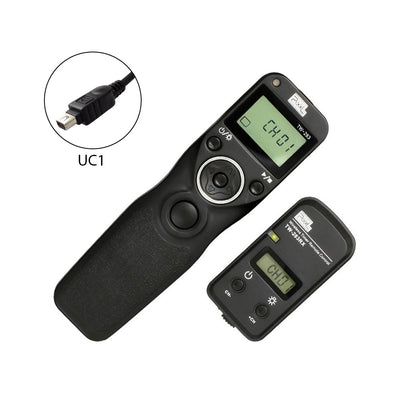 Pixel TW-283/UC1 LCD Wireless Timer Shutter Release Remote Control for Olympus UC1 type - Rogitech Ltd
