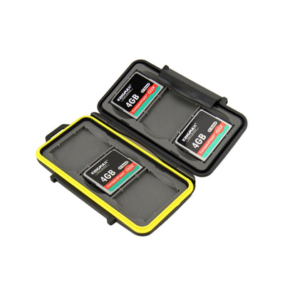 JJC MC-CF6 Rubber Sealed Waterproof Memory Card Hard Case Holder for 6x CF Cards