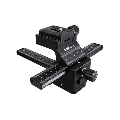 Kiwifotos FC-1II Pro 4 Ways Well-Made Macro Focusing Rail Slider with Quick Release Plate