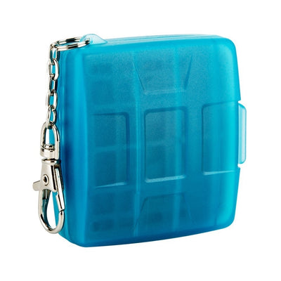 JJC MC-8B Portable Memory Card Case with Key Ring for 1x CF, 2x SD, 2x MSD -Blue