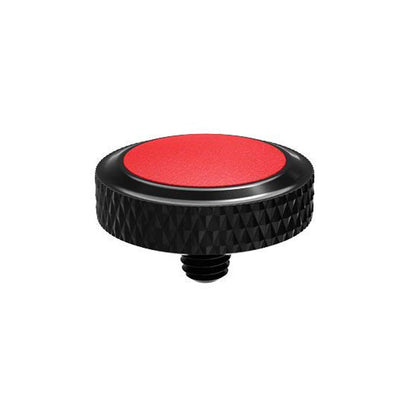 JJC SRB-BK Red Deluxe Soft Release Button for Fujifilm, Leica, Sony
