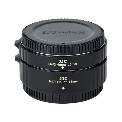 JJC AET-M43S(II) Auto Focus Extension Tube 10mm/16mm for Olympus & Panasonic M4/3 Mount
