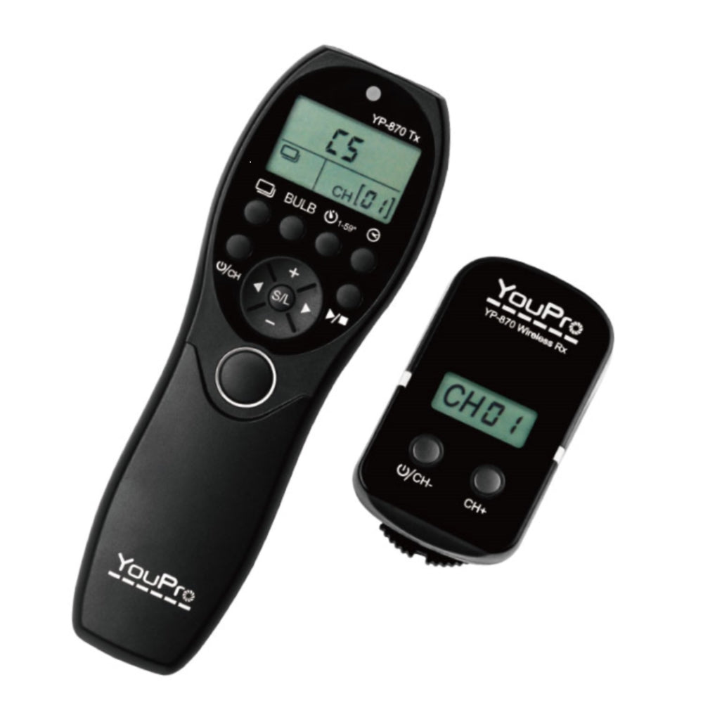 YouPro YP-870/E3 II Wireless Timer Remote Control for Timelapse Photography