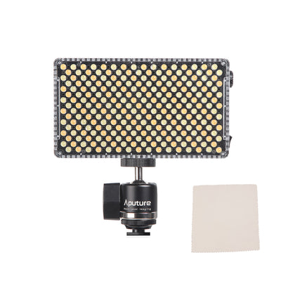 Aputure AL-F7 CRI 95+ Bi-Color 3200K-9500K On-camera LED Video Light with UKHP® Cleaning Cloth