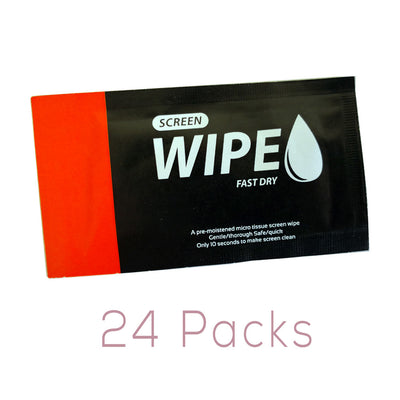 GGS WW-1 Wet Wipes for Cleaning LCD, Phones, Electronics - 24 Pack