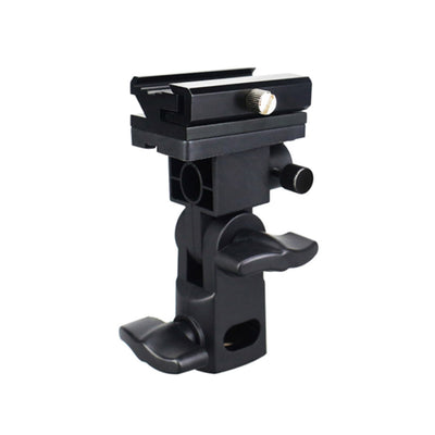 JJC FU-SOB Metal Hot Shoe Mount Flash Holder for Light Stand with Umbrella Lock