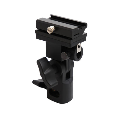 Kaavie Type B Universal Swivel Hot Shoe Flash Holder for Light Stand with Umbrella Lock - Rogitech Ltd