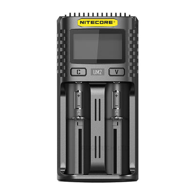 Nitecore UM2 USB Dual Slot Battery Charger for AA, AAA, AAAA, 18650, 26500