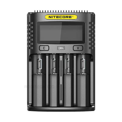 Nitecore UM4 USB Quadro Slot Battery Charger for AA, AAA, AAAA, 18650, 26500