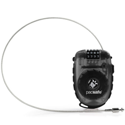 Pacsafe RetractaSafe 250 4-digit Secure Retractable Cable Luggage Lock - Smoke - Rogitech Ltd
