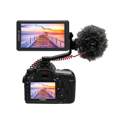 FeelWorld F6 5.7'' 4K HDMI On-camera Monitor with Tilt Arm & Power Output - Rogitech Ltd