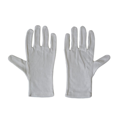 Kaavie High Density White Cotton Gloves - Medium 6 Pairs - Rogitech Ltd