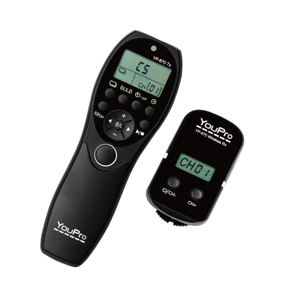 YouPro YP-870/N3 II Wireless Timer Remote for Canon N3 Cameras