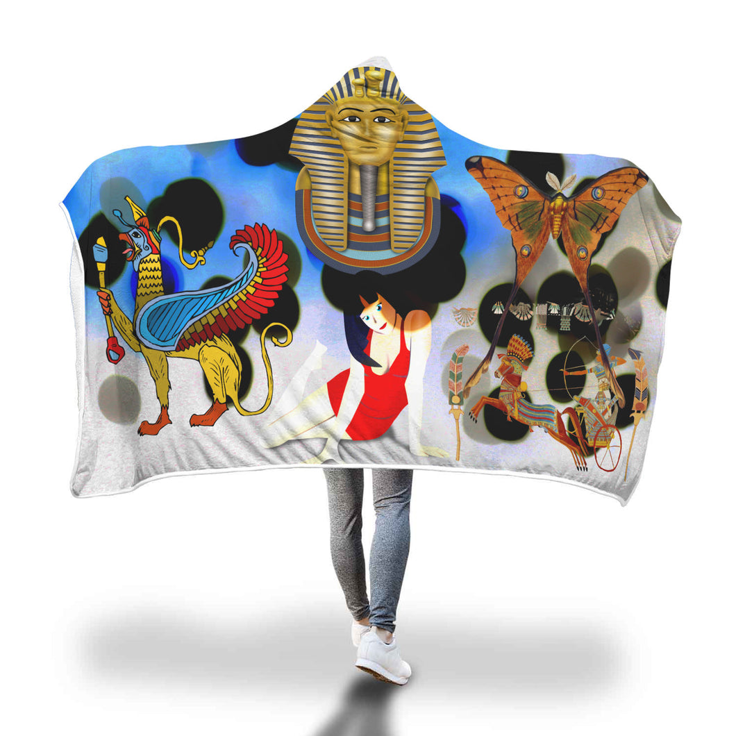Egyptian Thomb Hooded Blanket