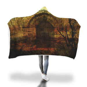 Dracula's Castle Hooded Blanket