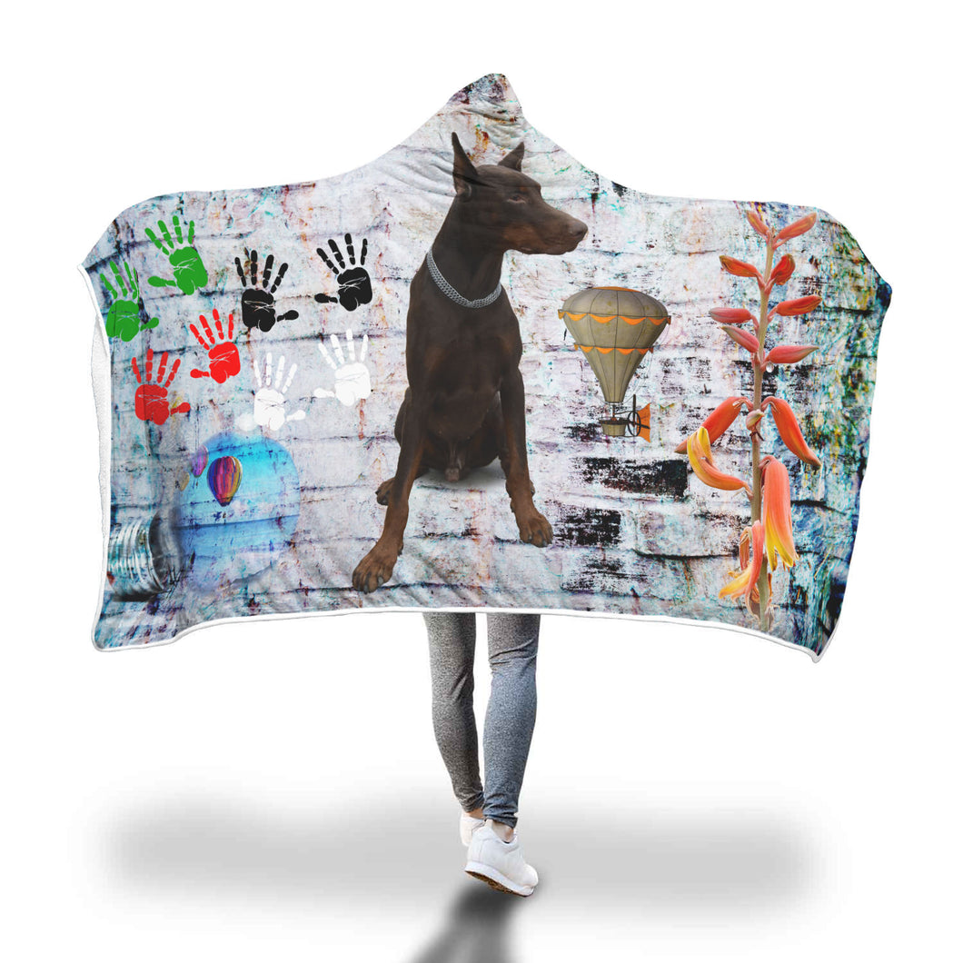 Wall Of Lies Hooded Blanket