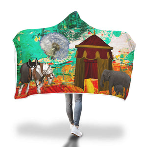 Medieval Circus Hooded Blanket