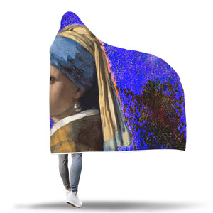 Girl with a Pearl Earring Hooded Blanket