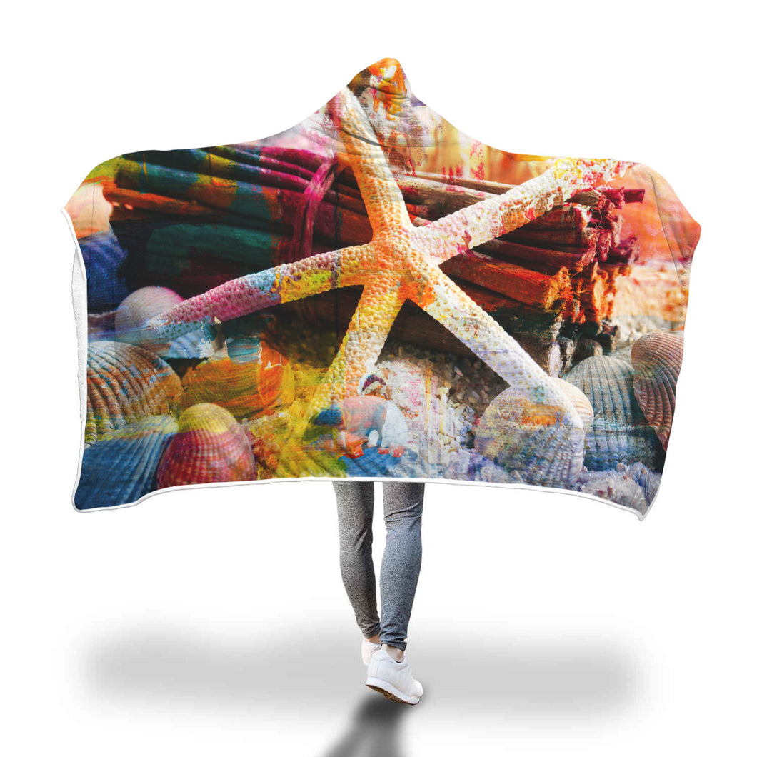 Beach Pleasures Hooded Blanket