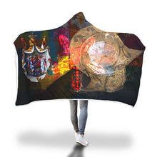 Hispanic Trilogy Hooded Blanket