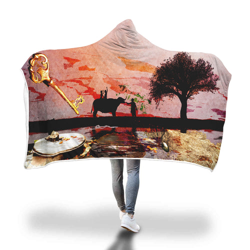 Africa Key Hooded Blanket