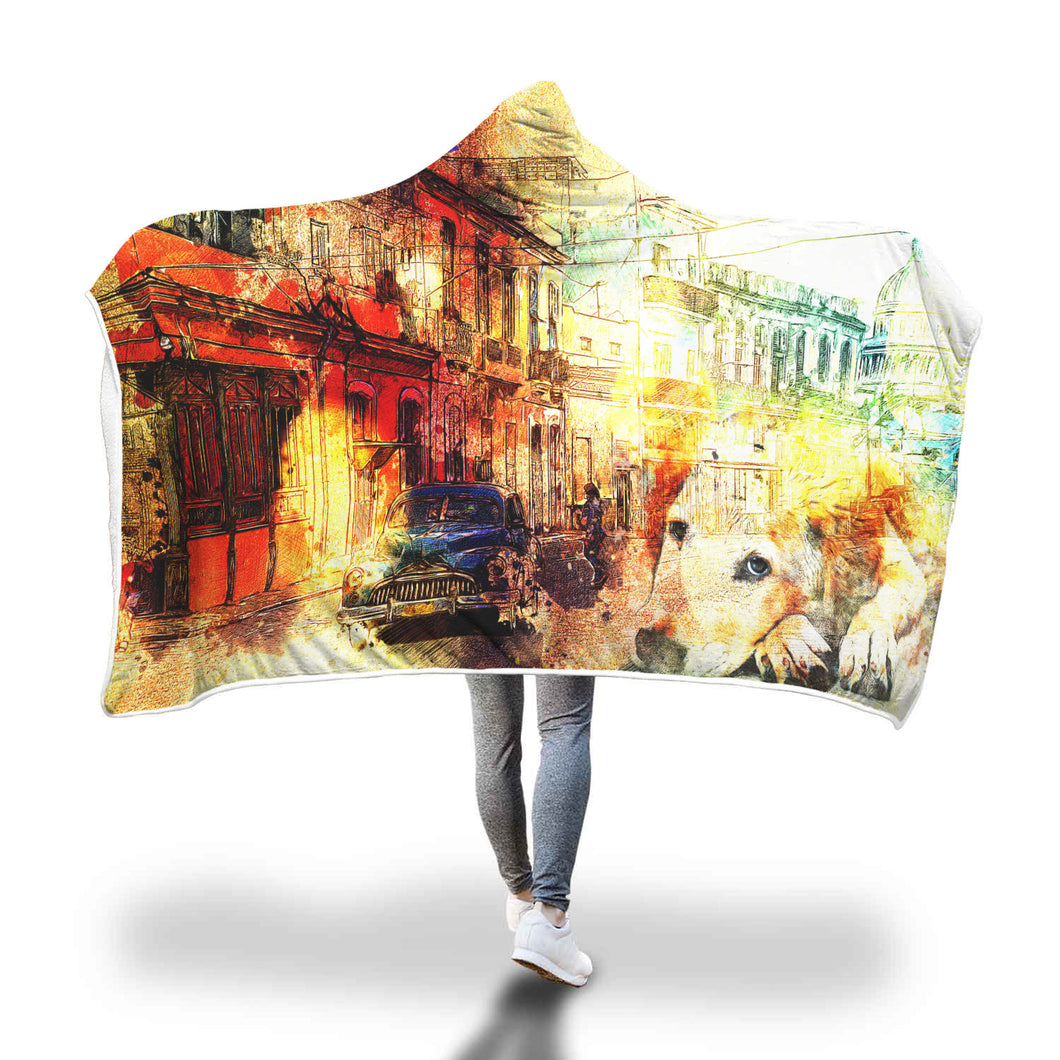 Ghost Town Hooded Blanket