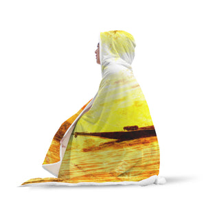 Yellow Acrobat Fisherman Hooded Blanket