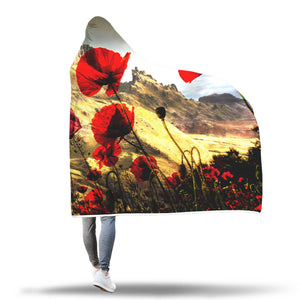 Mountain Poppy Hooded Blanket