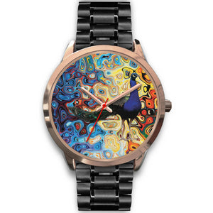 Peacock Wall Rose Gold Watch
