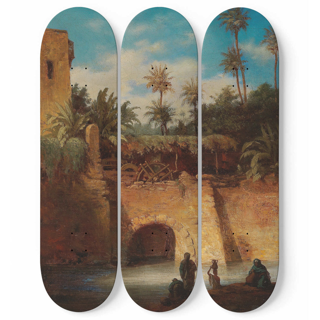 Water Carriers by the Mill Skateboard Wall Art