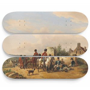 Imperial French Soldiers Skateboard Wall Art
