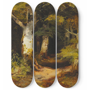 Waldweg Skateboard Wall Art