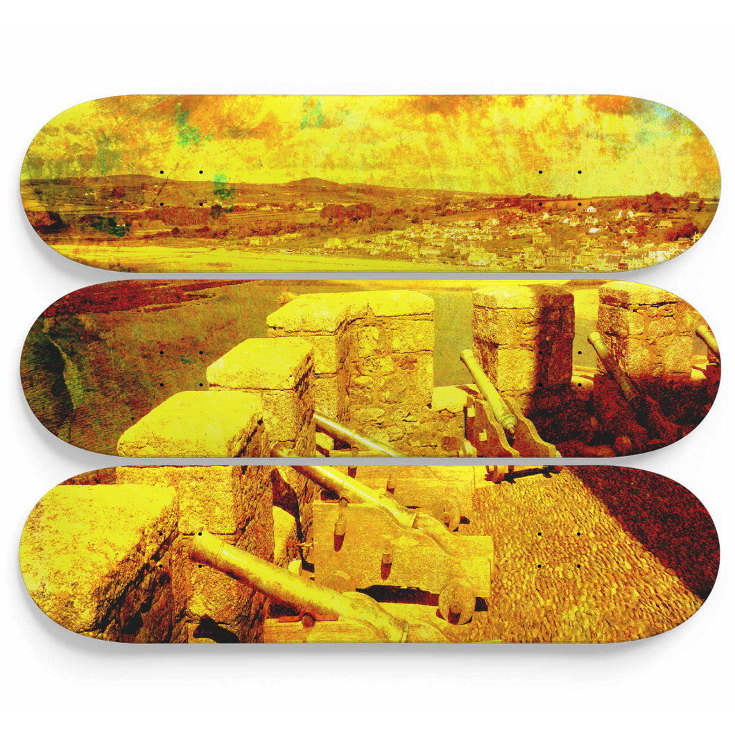 Cannons of 4th Squadron Skateboard Wall Art