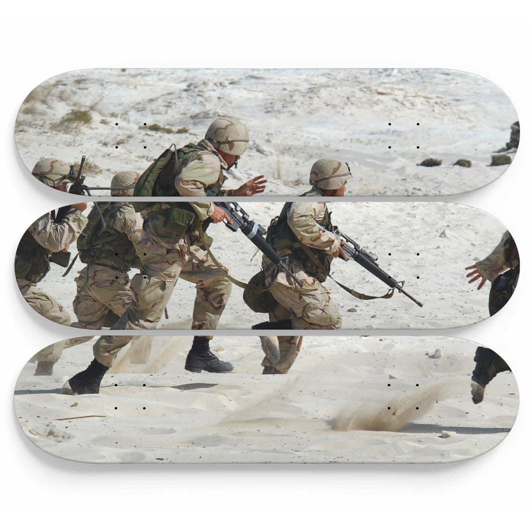 Desert training Skateboard Wall Art