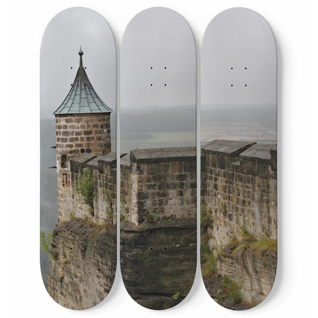 Seaside Stronghold Skateboard Wall Art