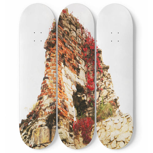 Ancient Ruin Skateboard Wall Art
