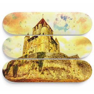 Electric Castle Skateboard Wall Art
