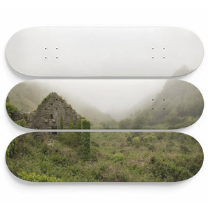 Mist Cabin Skateboard Wall Art