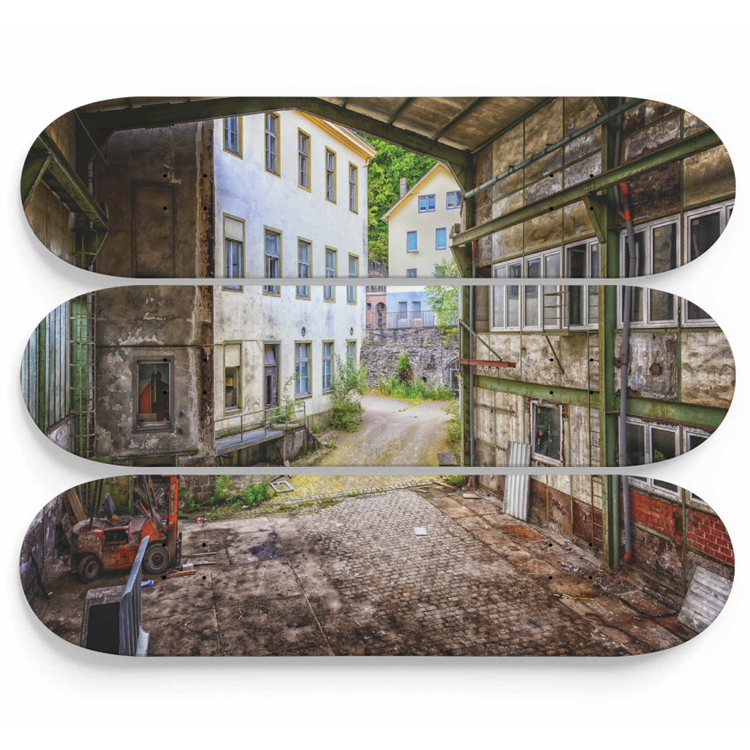Old Asylum Town Skateboard Wall Art
