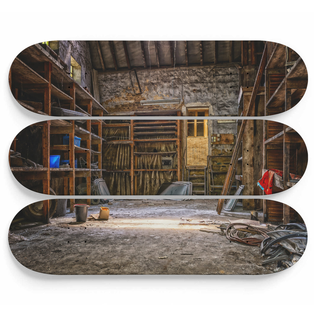 Barn Guerilla Ruin Skateboard Wall Art