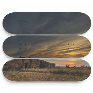 Old Valley Sunset Skateboard Wall Art