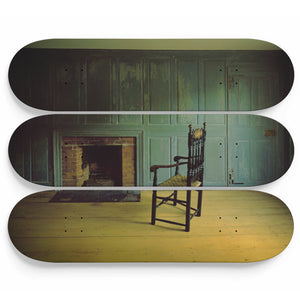 Silent Tavern Chair Skateboard Wall Art
